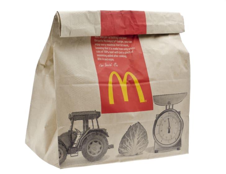 McDonald's brown paper bag