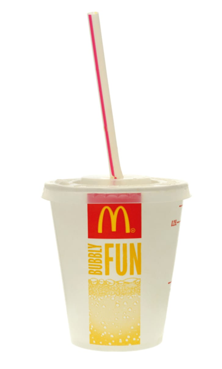 McDonald's cup with straw