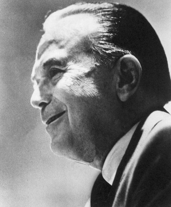 Portrait of American businessman Ray Kroc