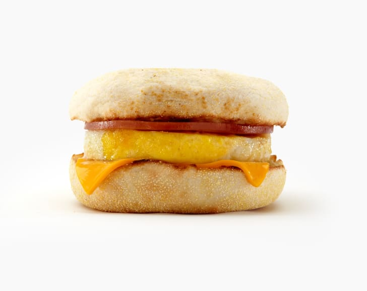 A photo of a McDonald's Egg McMuffin