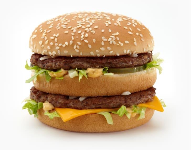 Photo of a McDonald's Big Mac