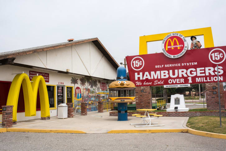 The original McDonald's site and museum is free and open to the public and is unaffiliated with the McDonald's Corporation