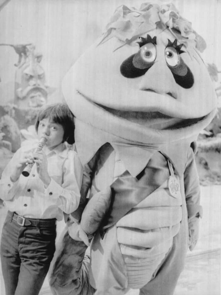English actor, Jack Wild promoting the NBC children's series, H.R. Pufnstuf, 1969