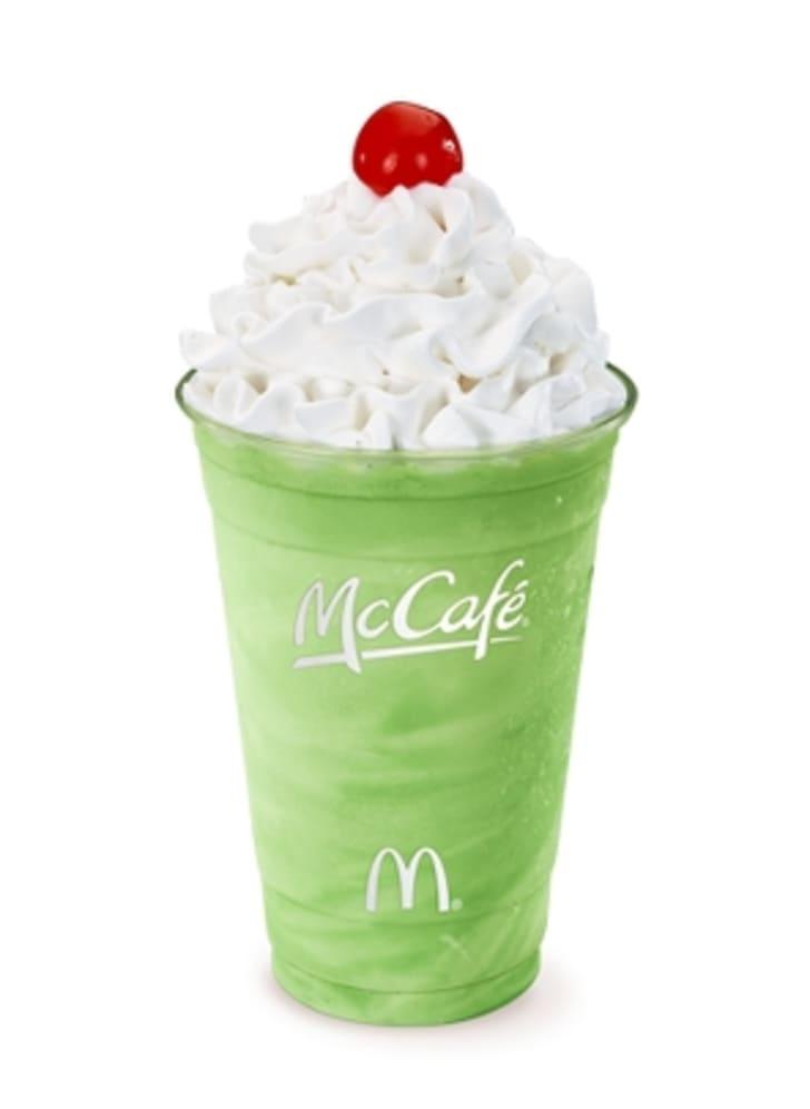 Photo of a McDonald's Shamrock Shake