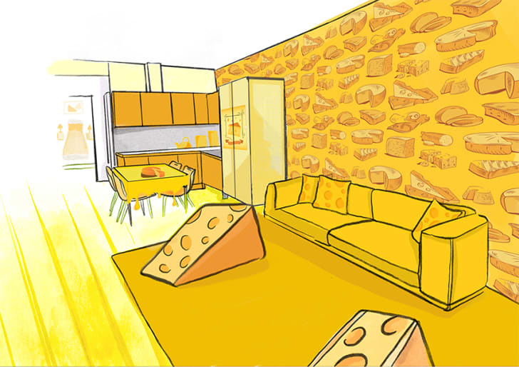 Concept art for cheese suite.