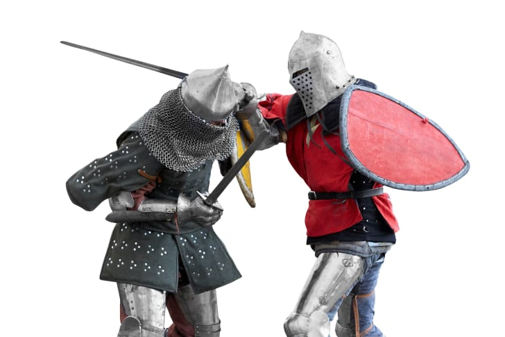 Two knights compete in a tournament