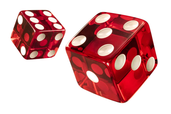 Photo of red casino dice