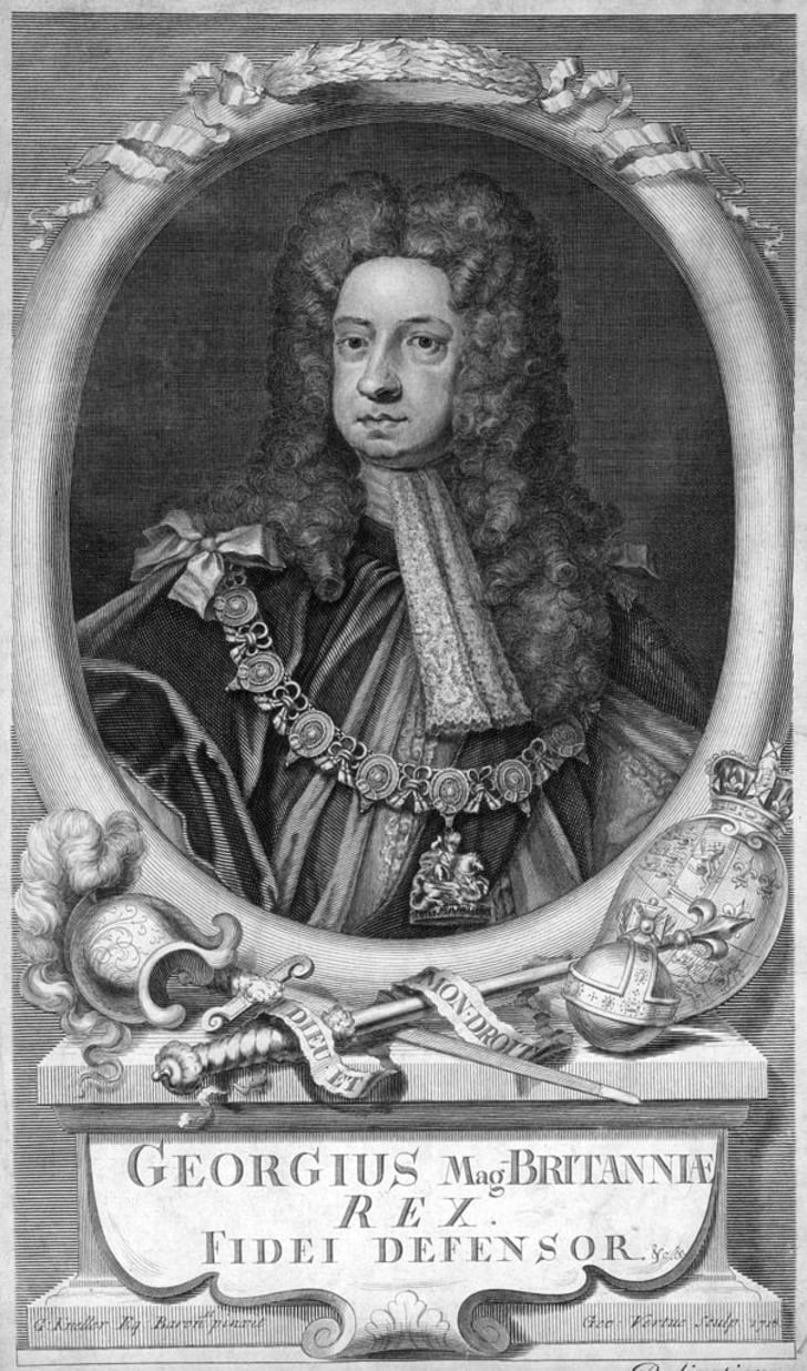 Portrait of George I (1660-1727), the first Hanoverian King of Great Britain and Ireland. He ruled from 1714 until his death.