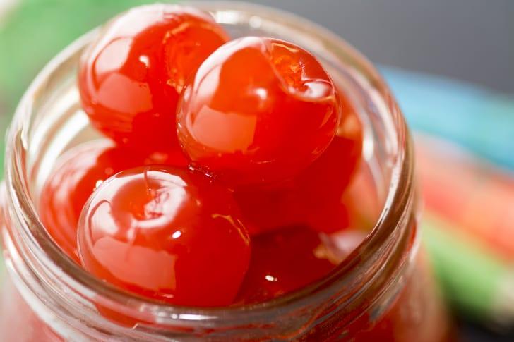 Cherries in a jar.