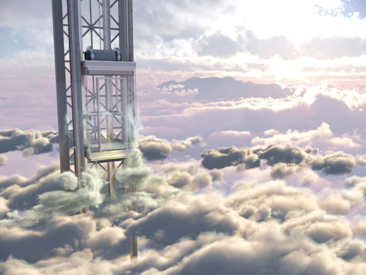 elevator in the sky