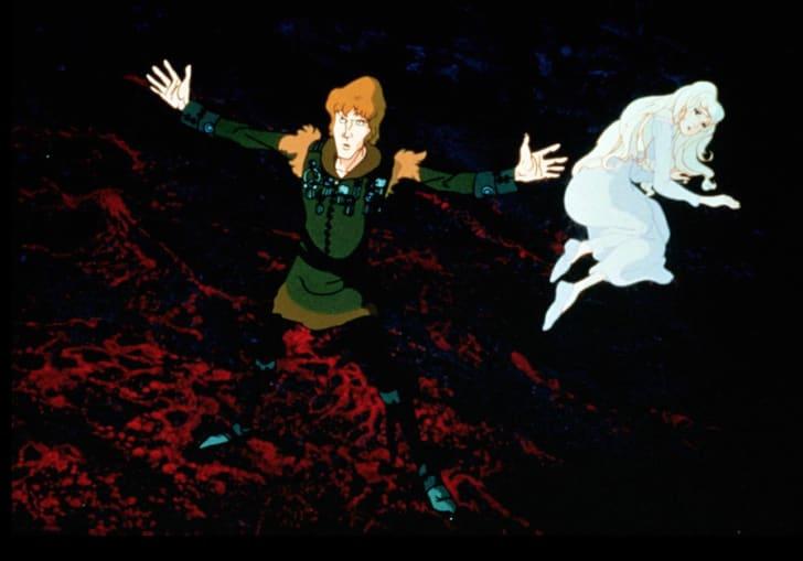 Jeff Bridges and Mia Farrow in The Last Unicorn (1982)
