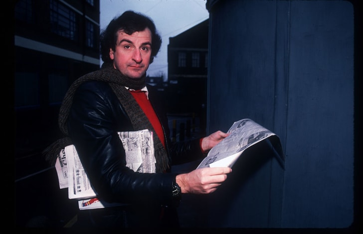 Author Douglas Adams poses for a picture in 1985.