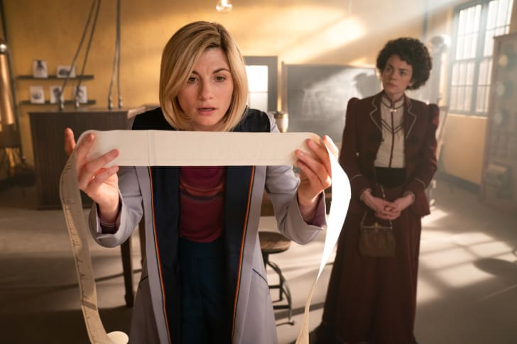 Jodie Whittaker as The Doctor and Haley McGee as Dorothy Skerrit in 'Doctor Who.'