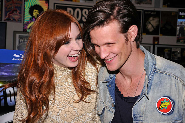 Actors Karen Gillan and Matt Smith at a Los Angeles signing for 'Doctor Who' in 2011.