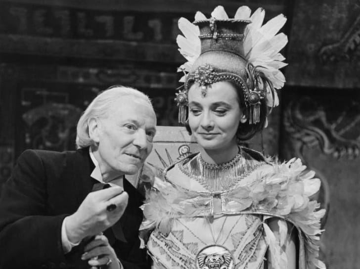 William Hartnell and Jacqueline Hill in a 1964 episode of Doctor Who.