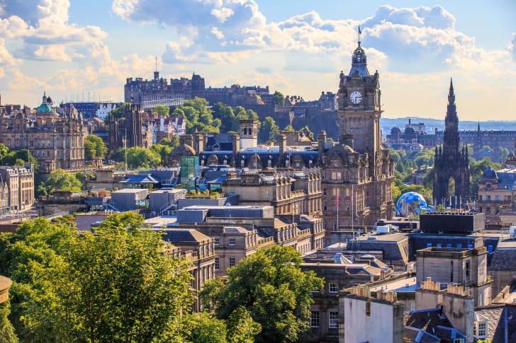 Cityscape of Edinburgh Scotland
