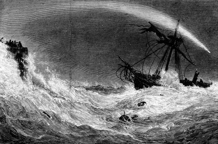 shipwreck illustration