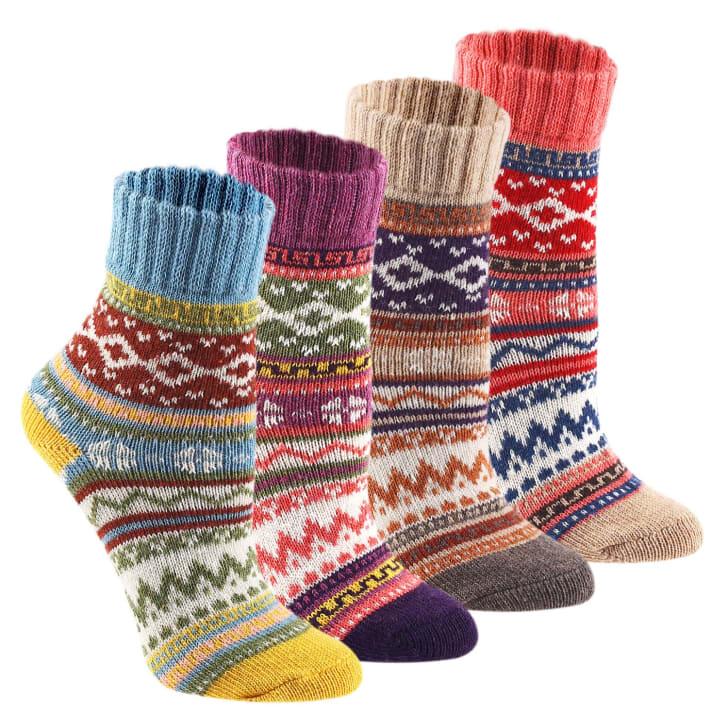 Vintage socks from KEAZA sold on Amazon.