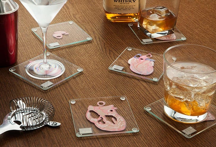 Coasters that look like a heart