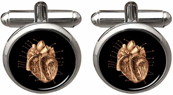 Cufflinks with hearts on them