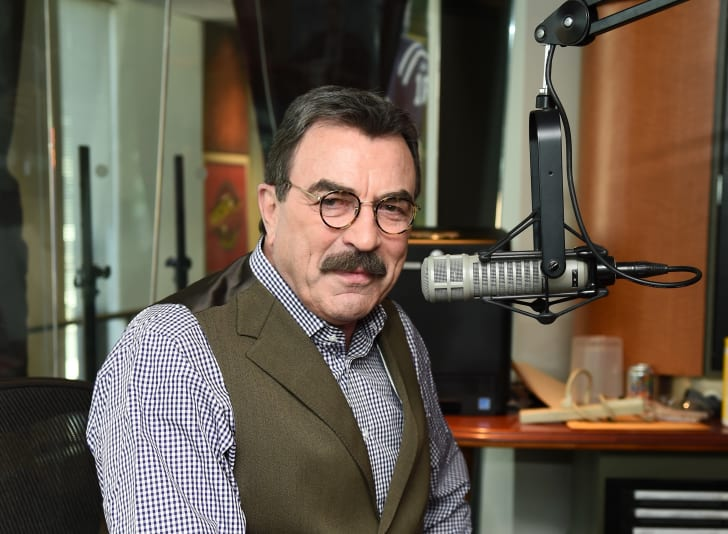 Tom Selleck visits the SiriusXM Studios on October 15, 2015 in New York City