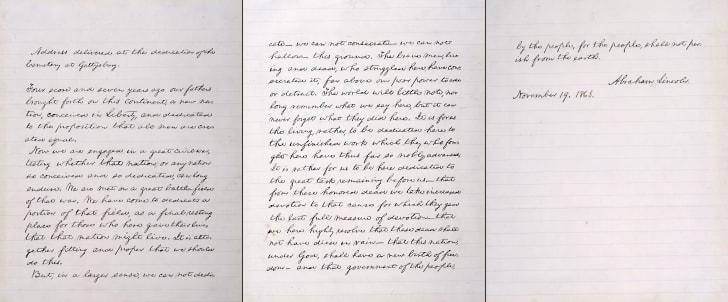 bliss copy gettysburg address