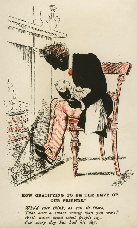 vinegar valentine shows man caring for baby