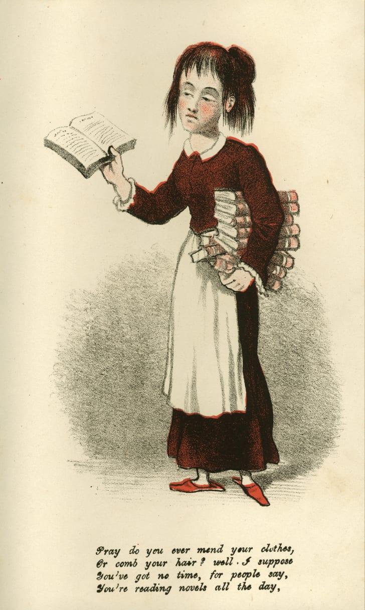 vinegar valentine shows woman reading