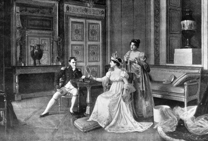 A portrait of Napoleon Bonaparte and Empress Josephine.