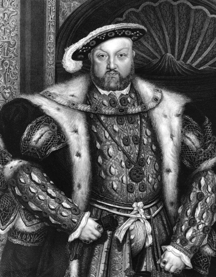 A portrait of King Henry VIII.