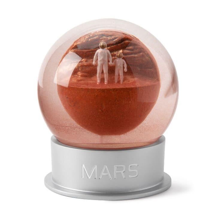 Mars snow globe
