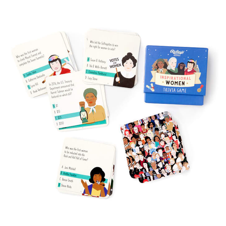 Inspirational women trivia card game