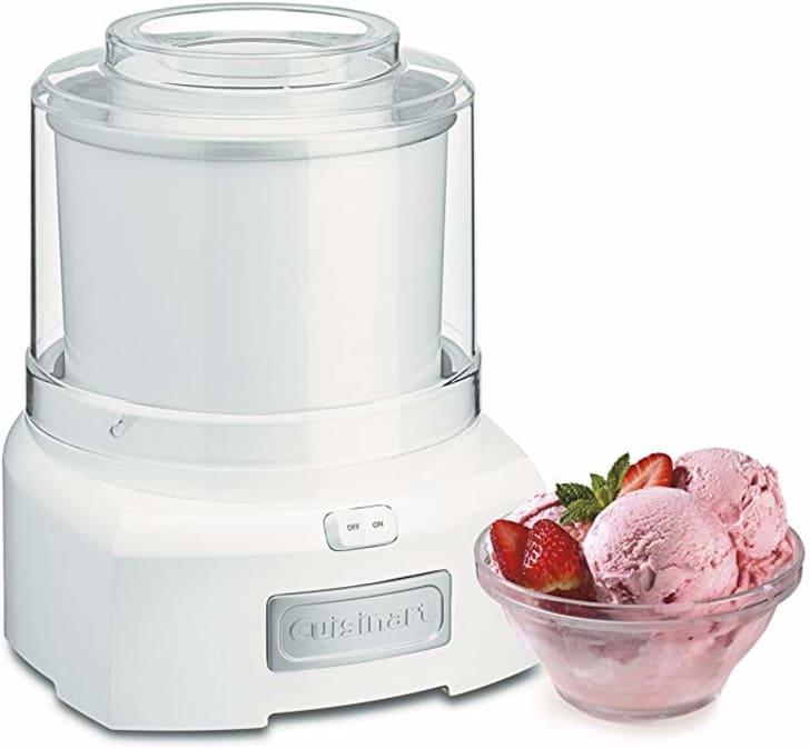 A frozen ice cream maker