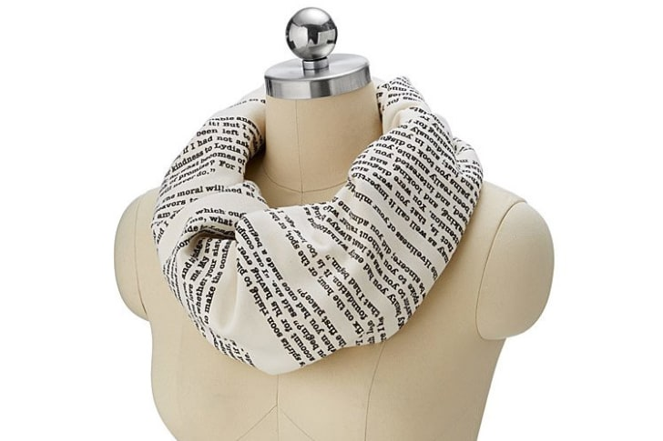 Literary Scarf from UncommonGoods.