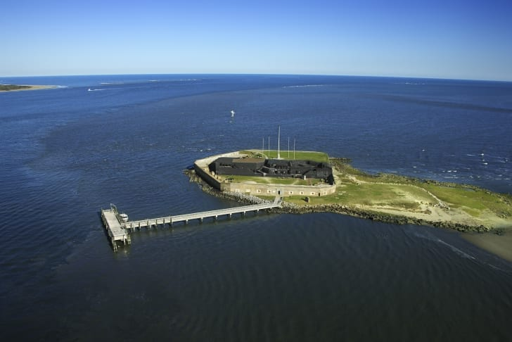 Fort Sumter was built on an artificial island.