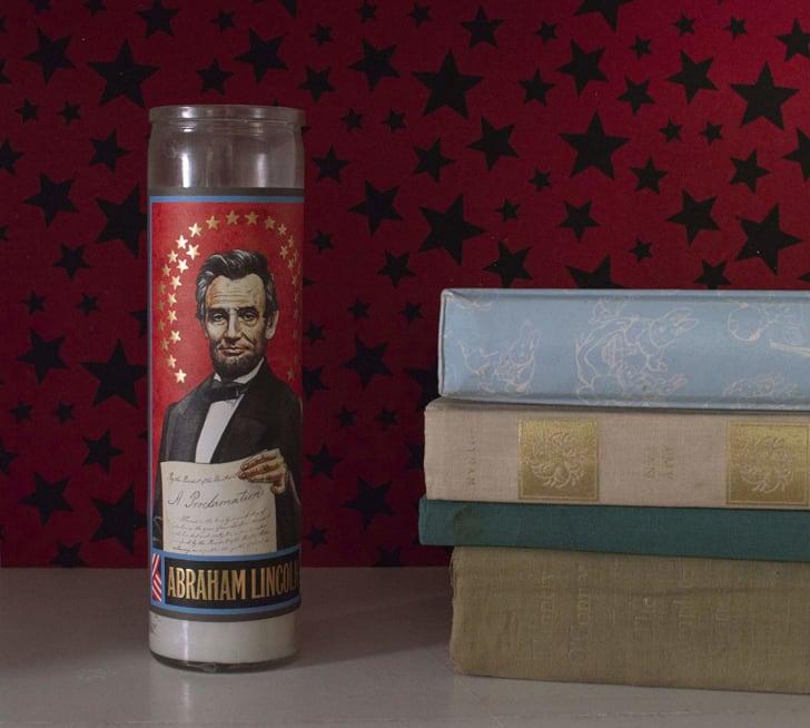 Abraham Lincoln Prayer Candle.