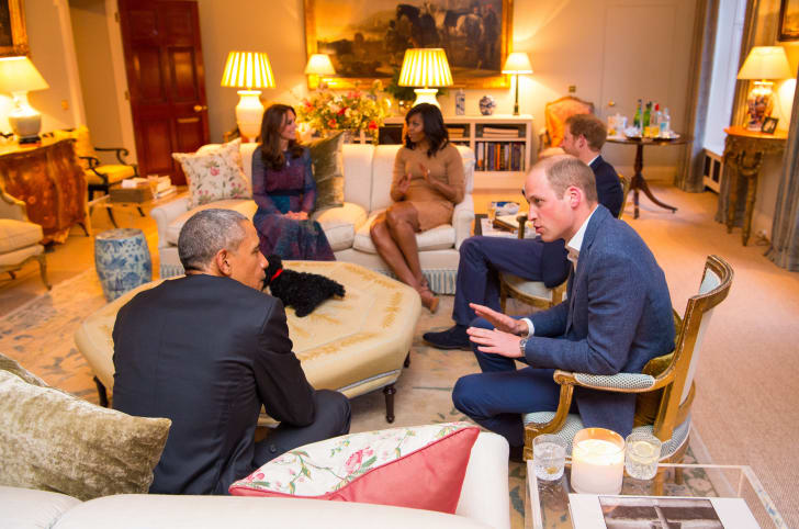 william, kate, harry, and the obamas at kensington palace
