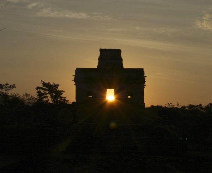 Sunrise at Dzibilchaltún