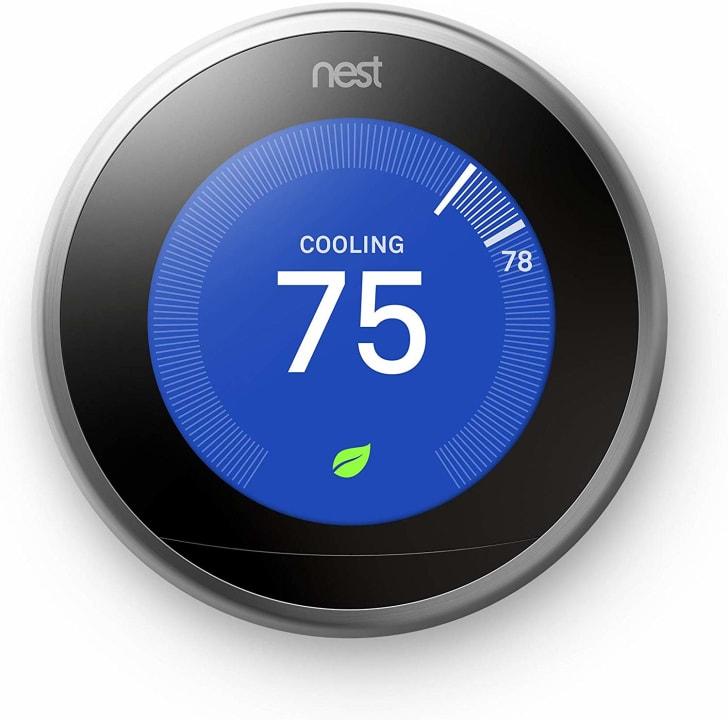 A Nest thermostat.