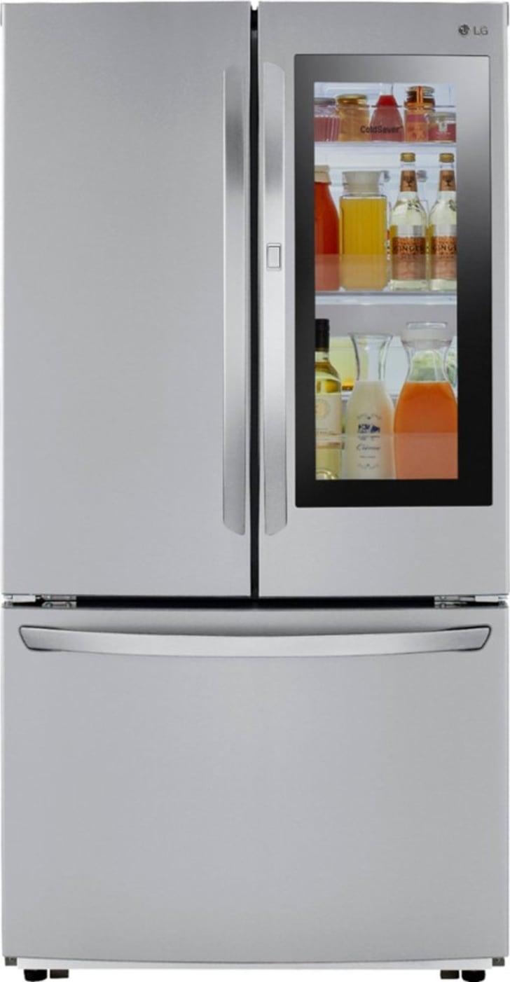 An LG smart refrigerator.
