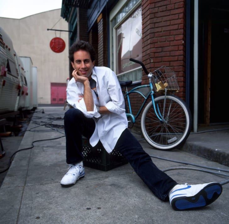 Comedian Jerry Seinfeld poses for a portrait session at the MTM Studios during the