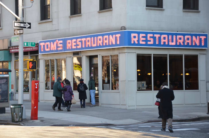 Tom's Restaurant, in New York City, January 15th 2012 View from Broadway