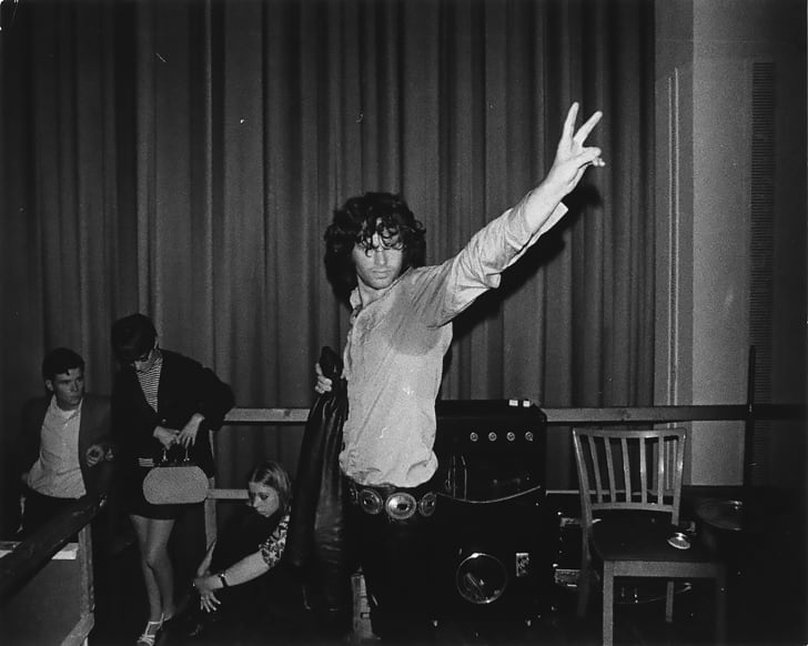 jim morrison the doors backstage photo
