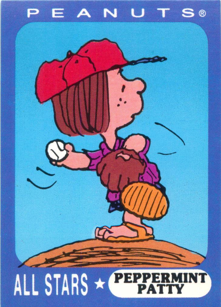 Pettermint Patty Peanuts trading card