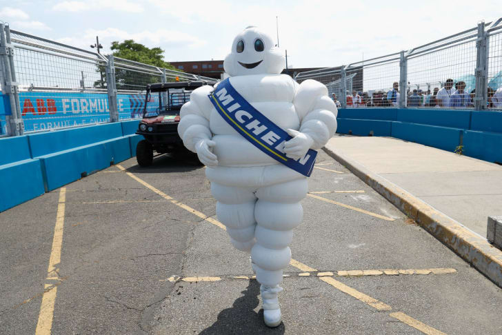 Michelin Man is seen during the Formula E New York City Race on July 14, 2018 in New York City