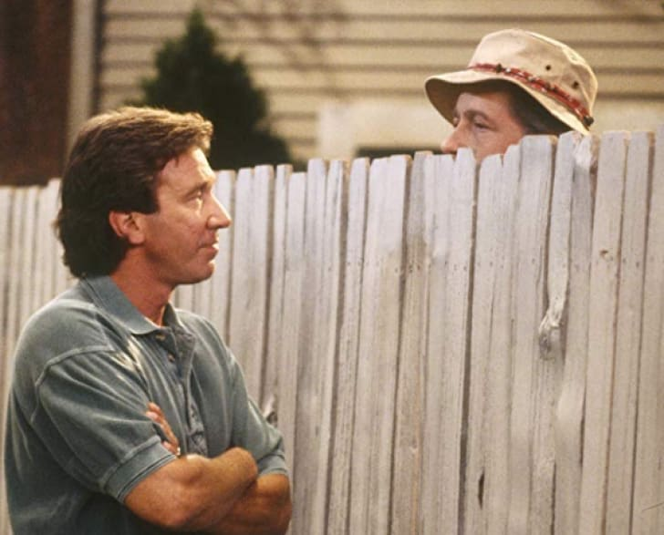 Tim Allen and Earl Hindman in Home Improvement