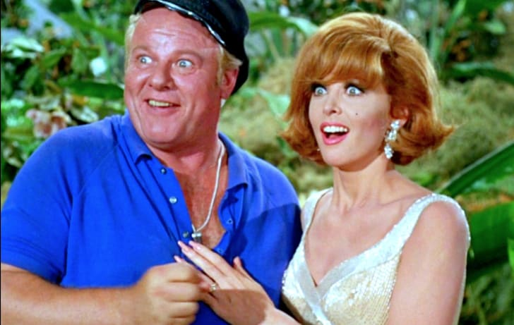 Alan Hale Jr. and Tina Louise in Gilligan's Island (1964)