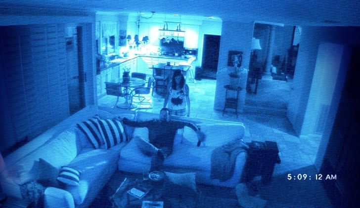 Brian Boland and Katie Featherston in Paranormal Activity 2 (2010)