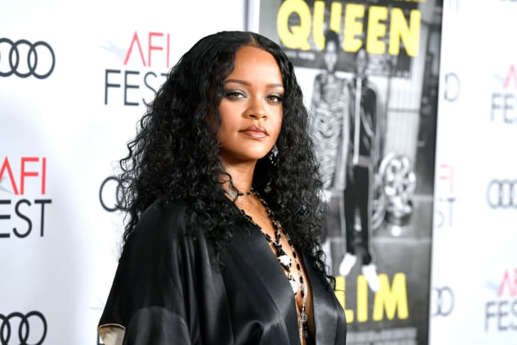Rihanna attends the Queen & Slim at AFI FEST 2019.