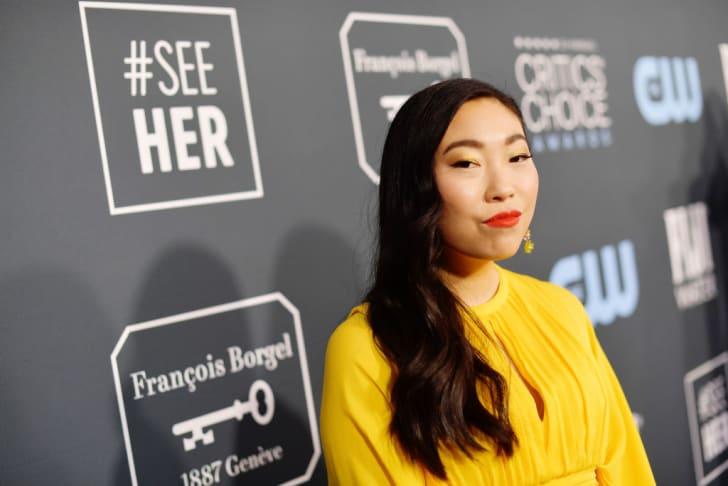 Awkwafina attends the 2020 Critics' Choice Awards in Santa Monica, California.